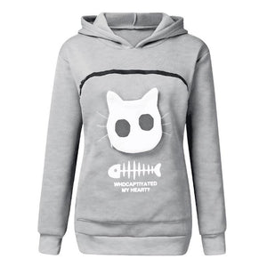 ✨Christmas Sale 50% OFF✨Cat Lovers Hoodie Cuddle Pouch Sweatshirt