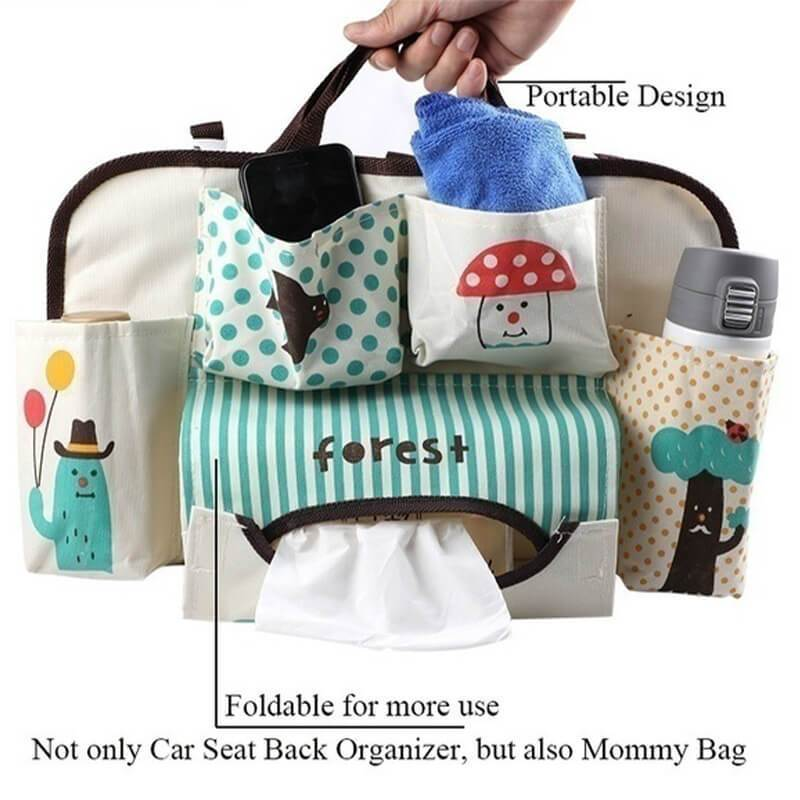 Cartoon Car Seat Back Organizer