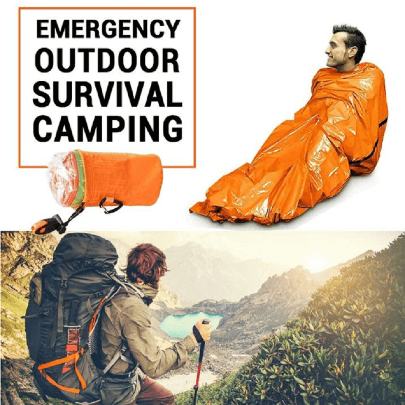 【Last Day Promotion 50% OFF】Emergency Outdoor Camping Thermal Sleeping Bag