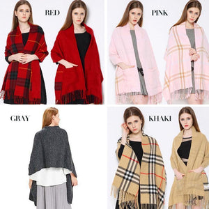 ❄Winter gifts❄(ON SALE AT 50%OFF)Pocket Shawl
