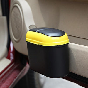 Car Trash Can with Double Lids