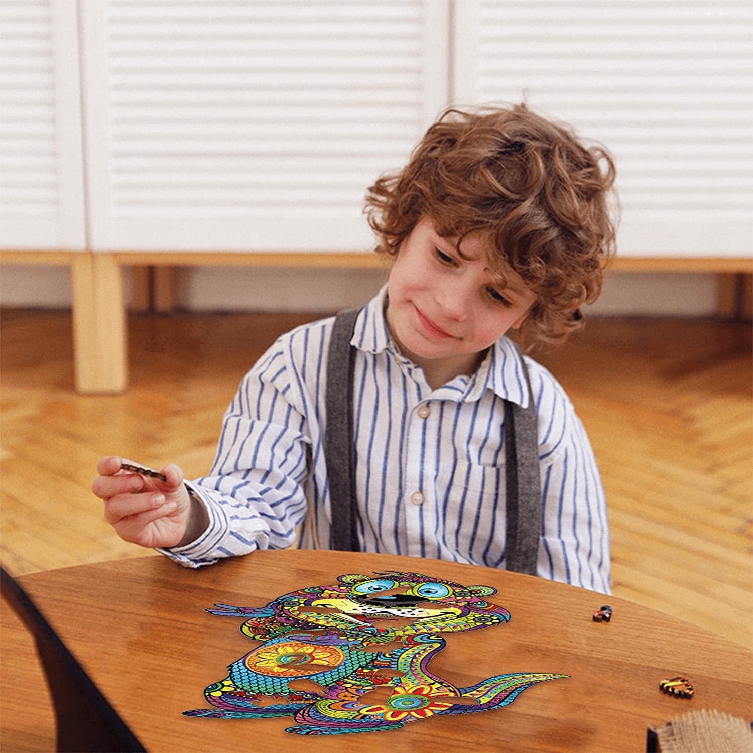 (💥 BLACK FRIDAY-BIG SALE 50% OFF) 3D Adorable Animal Wooden Puzzle