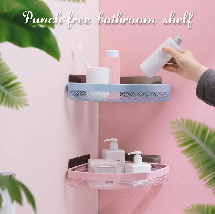 Punch-free Bathroom Corner Shelf