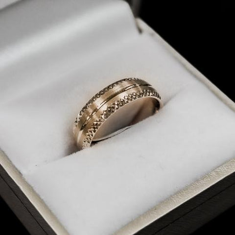 Men's diamond cut wedding band | Gold - Sugold Jewellers & Giftware