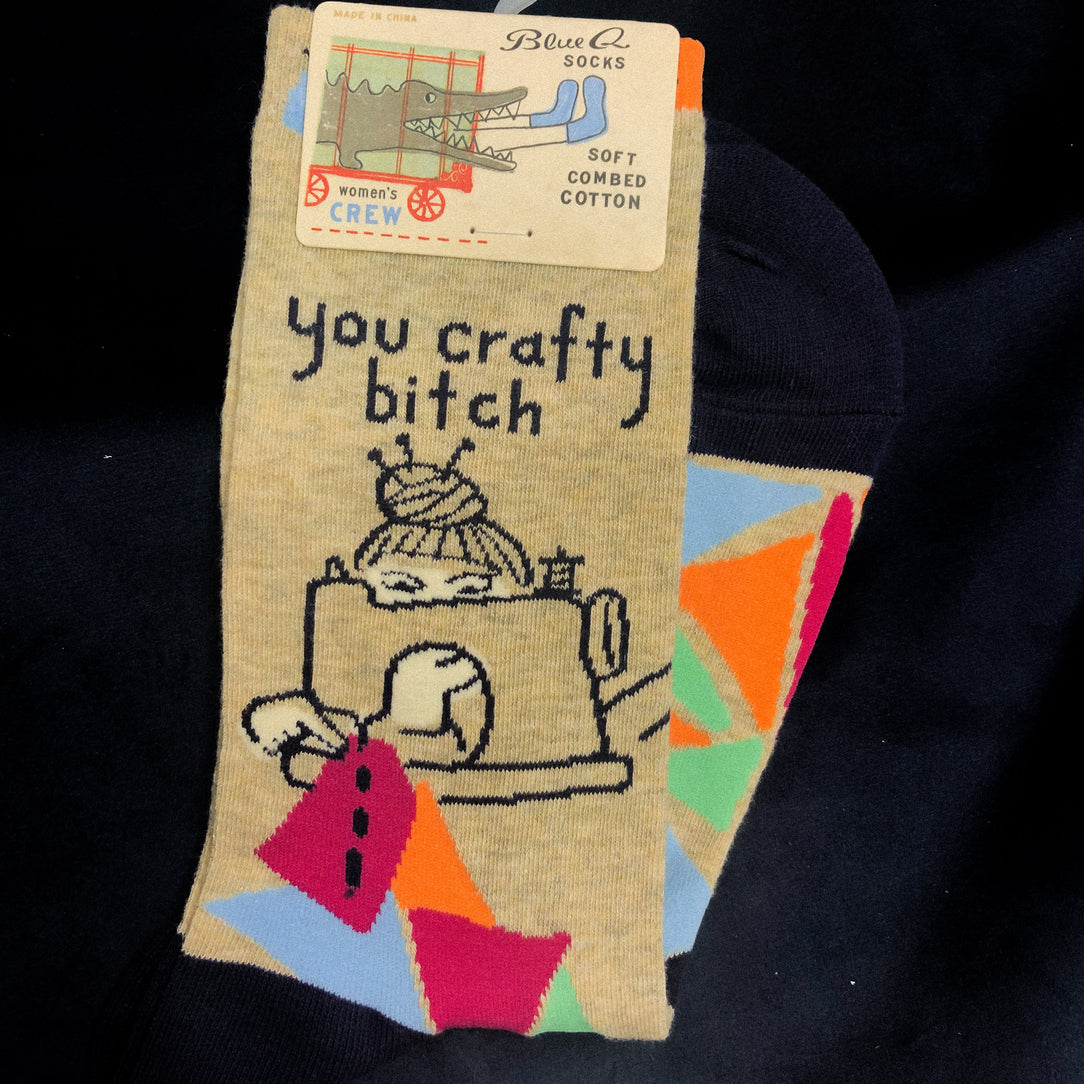 You Crafty Bitch - BlueQ Socks