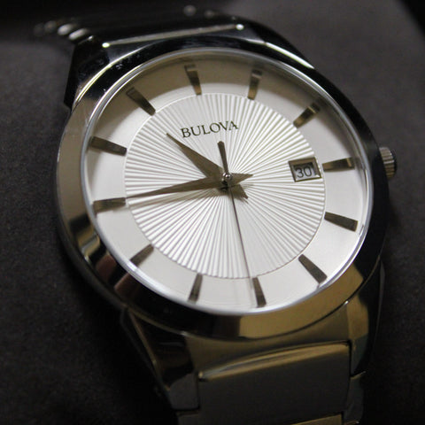 """The Classic""  Bulova Mens Stainless Steel Watch 