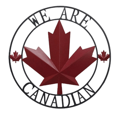 We are Canadian Metal Hanging Wall Decor | Indoor/Outdoor - Sugold Jewellers & Giftware