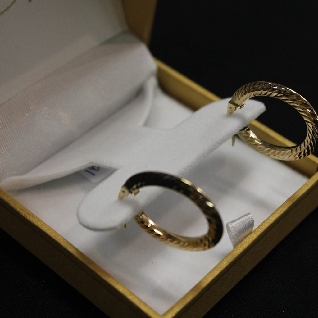 Braided Hoop Earrings | 10kt Gold - Sugold Jewellers & Giftware