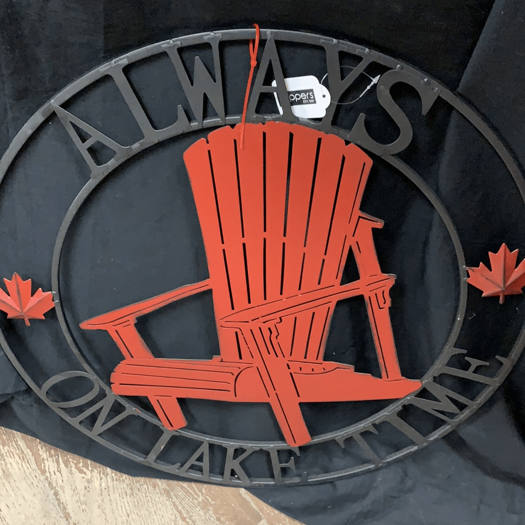 Always on Lake Time Metal Hanging Wall Decor | Indoor/Outdoor - Sugold Jewellers & Giftware