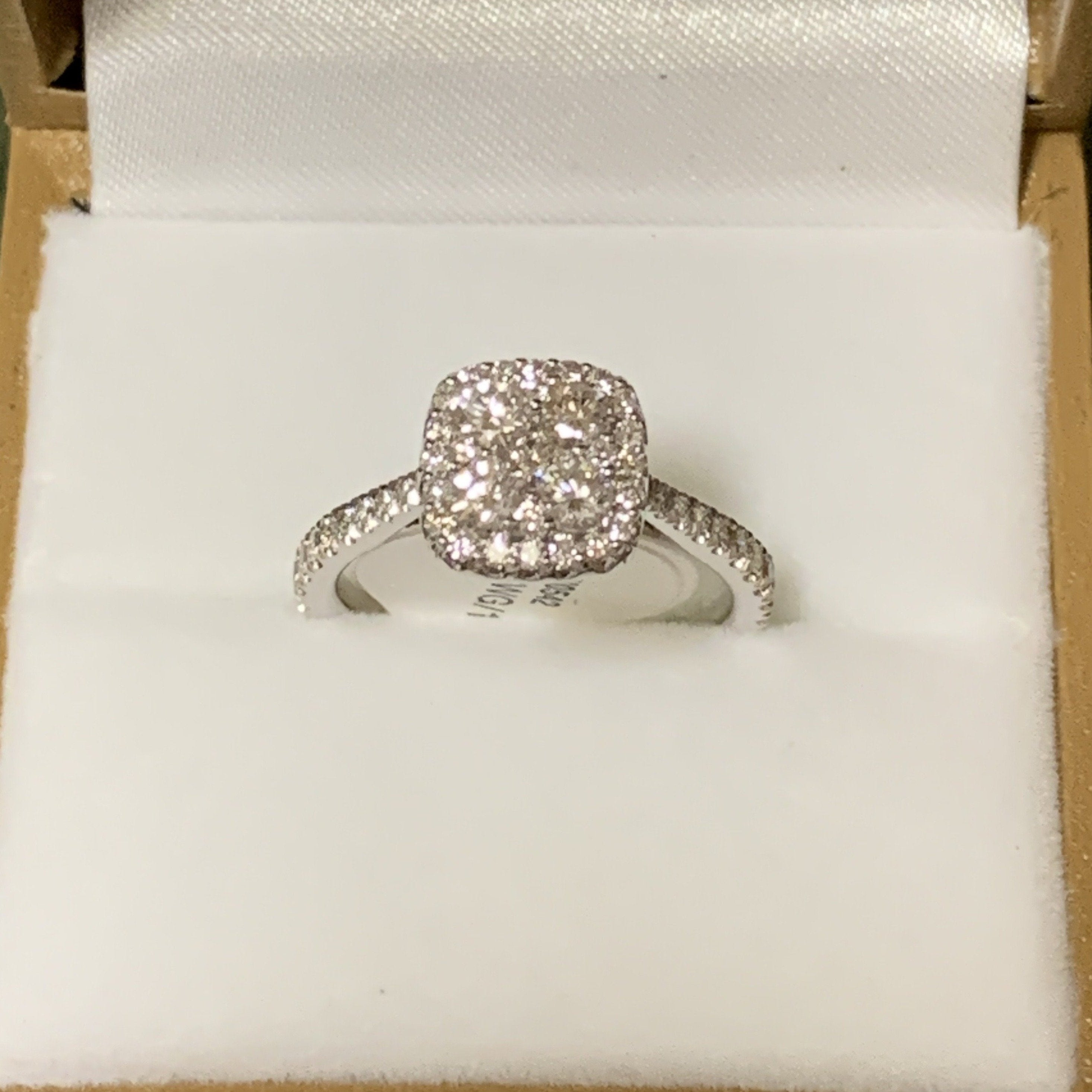 14kt White Gold Multi Stone Engagement Ring - Sugold Jewellers & Giftware