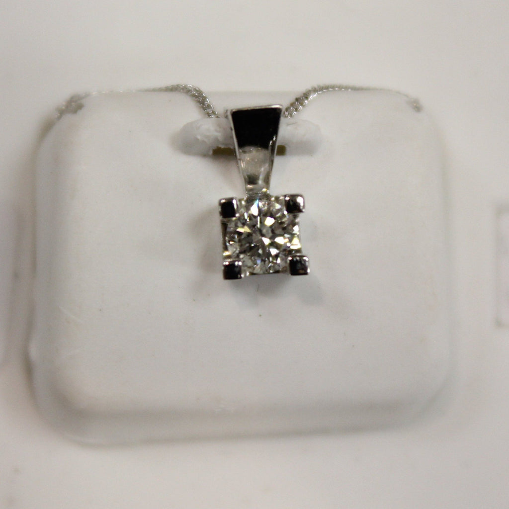 Diamond Pendant | Choose Your Carat | White Gold - Sugold Jewellers & Giftware