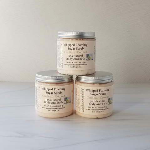 Whipped foaming Sugar Scrub Caribbean Coconut 6.5oz