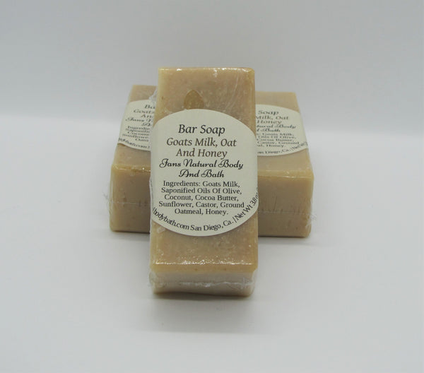 Handmade Bar Soap Goats Milk/Oatmeal/Honey 3.8 oz