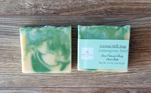 Bar Soap lemongrass Swirl 5 oz