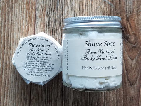 Shave Soap 3.5 oz and 1.2 oz