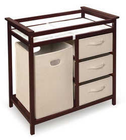 Sleigh Style Baby Changing Table in cherry