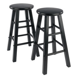 solid wood set of 2 counter stools