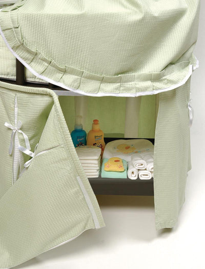 Elegance Round Baby Bassinet with Canopy - White - My USA Furniture
