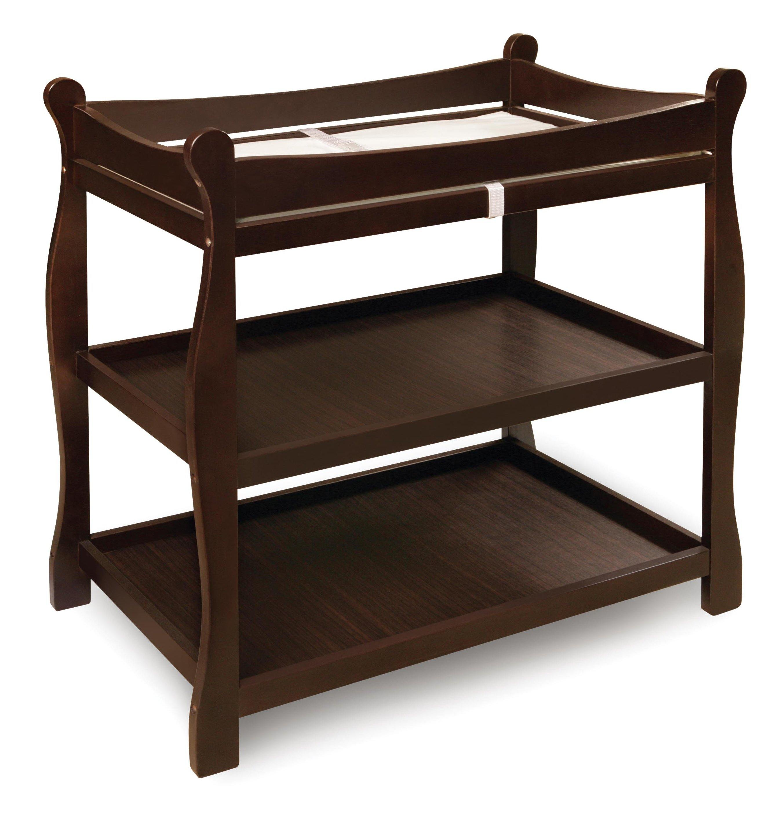 Sleigh Style Baby Changing Table - Espresso - My USA Furniture