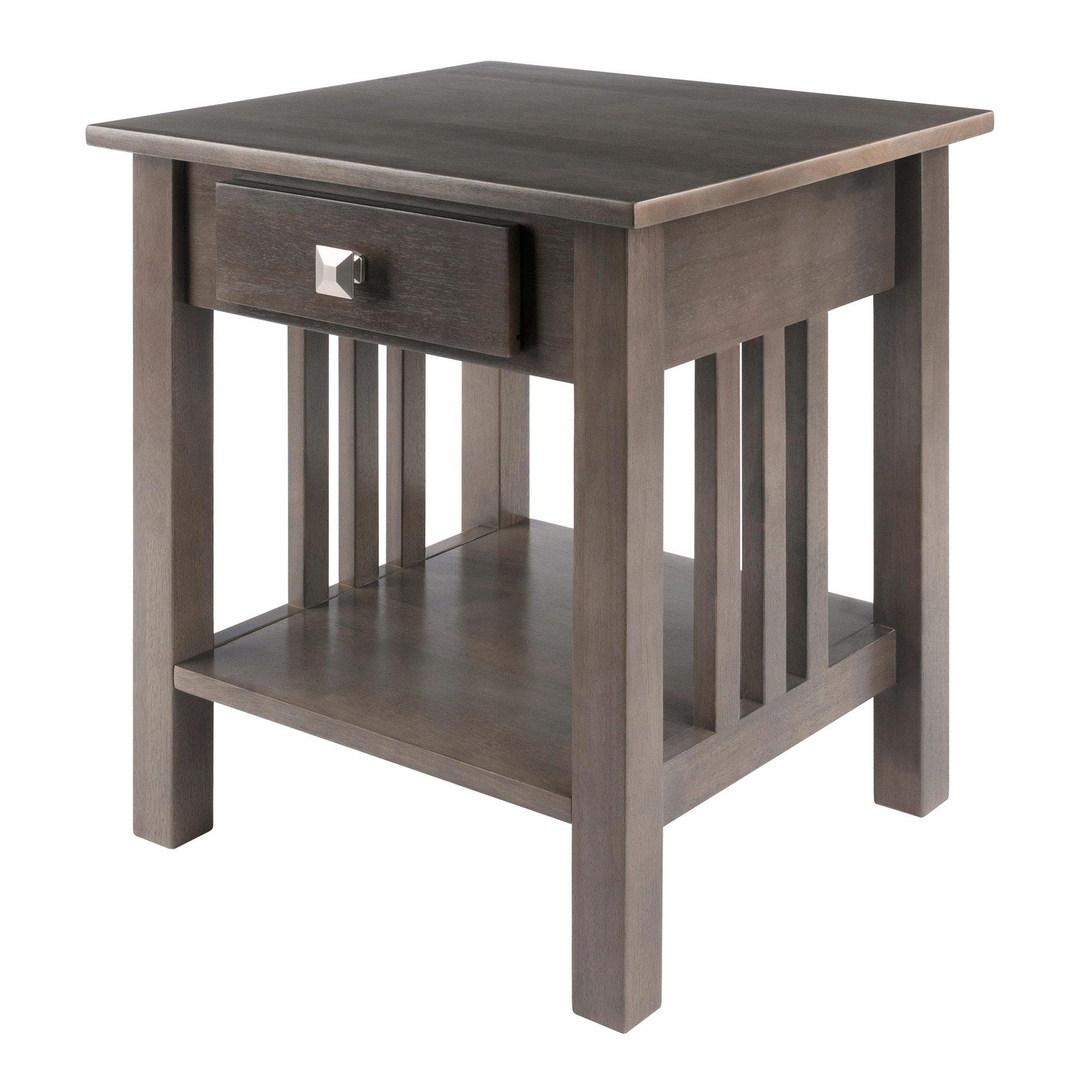 Stafford End Table, Oyster Gray - My USA Furniture