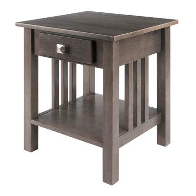 Stafford End Table, Oyster Gray