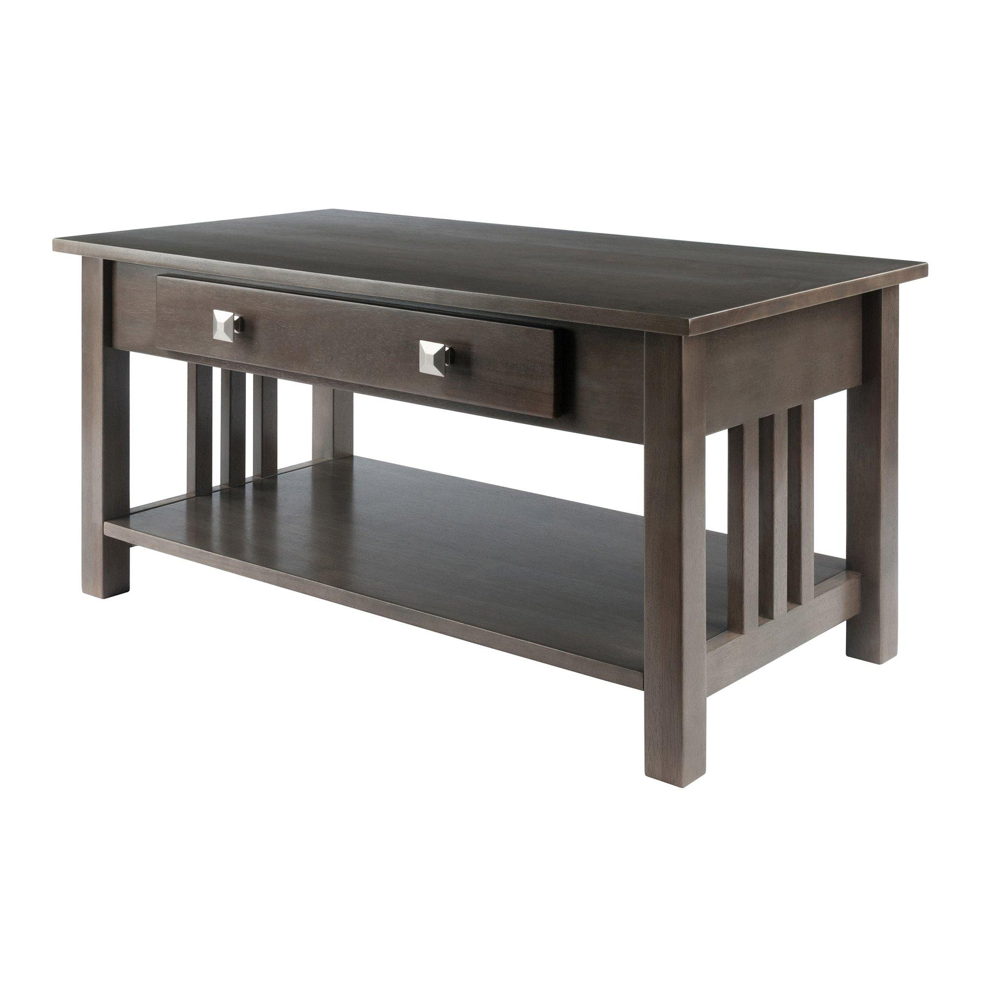 Stafford Coffee Table, Oyster Gray - My USA Furniture