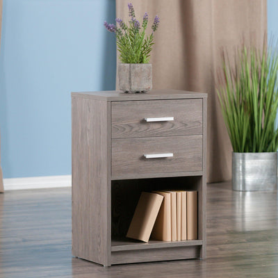 Molina Accent Table, Nightstand, Ash Gray