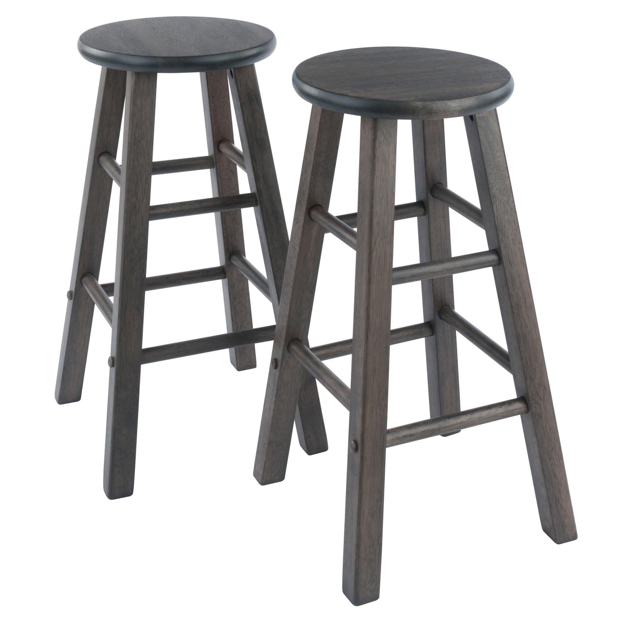 Element Counter Stools, 2-Pc Set, Oyster Gray - My USA Furniture