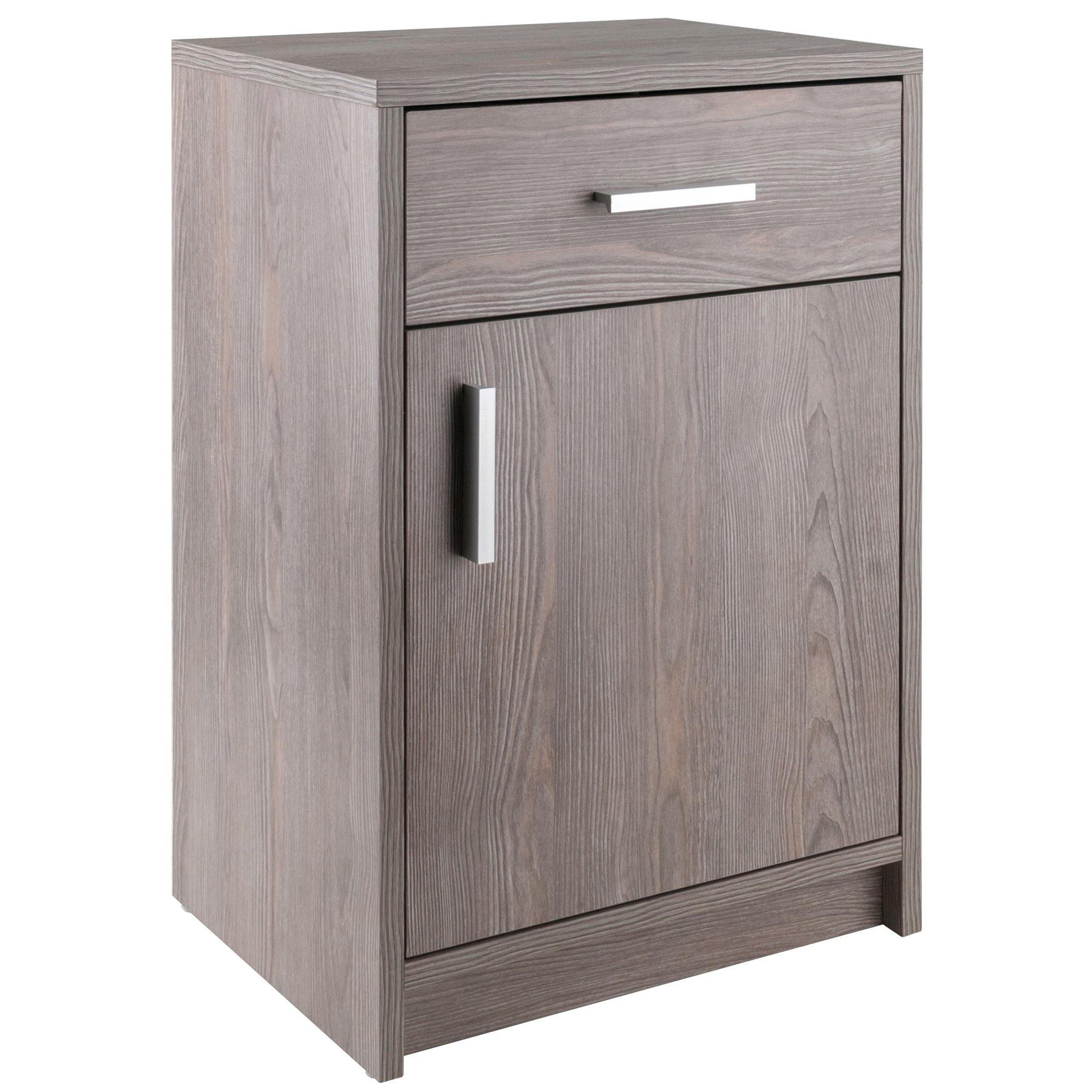 Astra Accent Table, Nightstand, Ash Gray - My USA Furniture