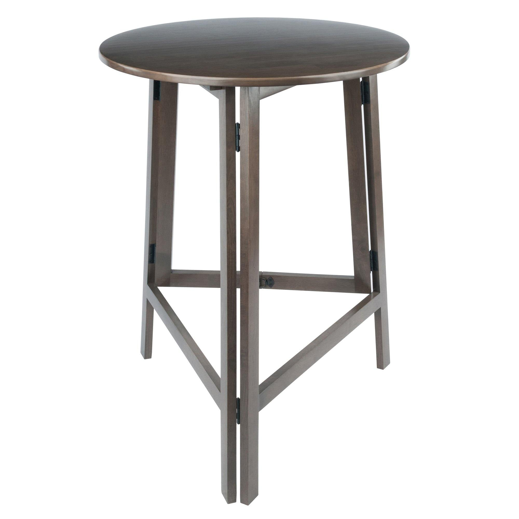 Torrence High Round Table, Oyster Gray - My USA Furniture