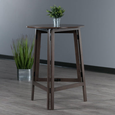 Torrence High Round Table, Oyster Gray