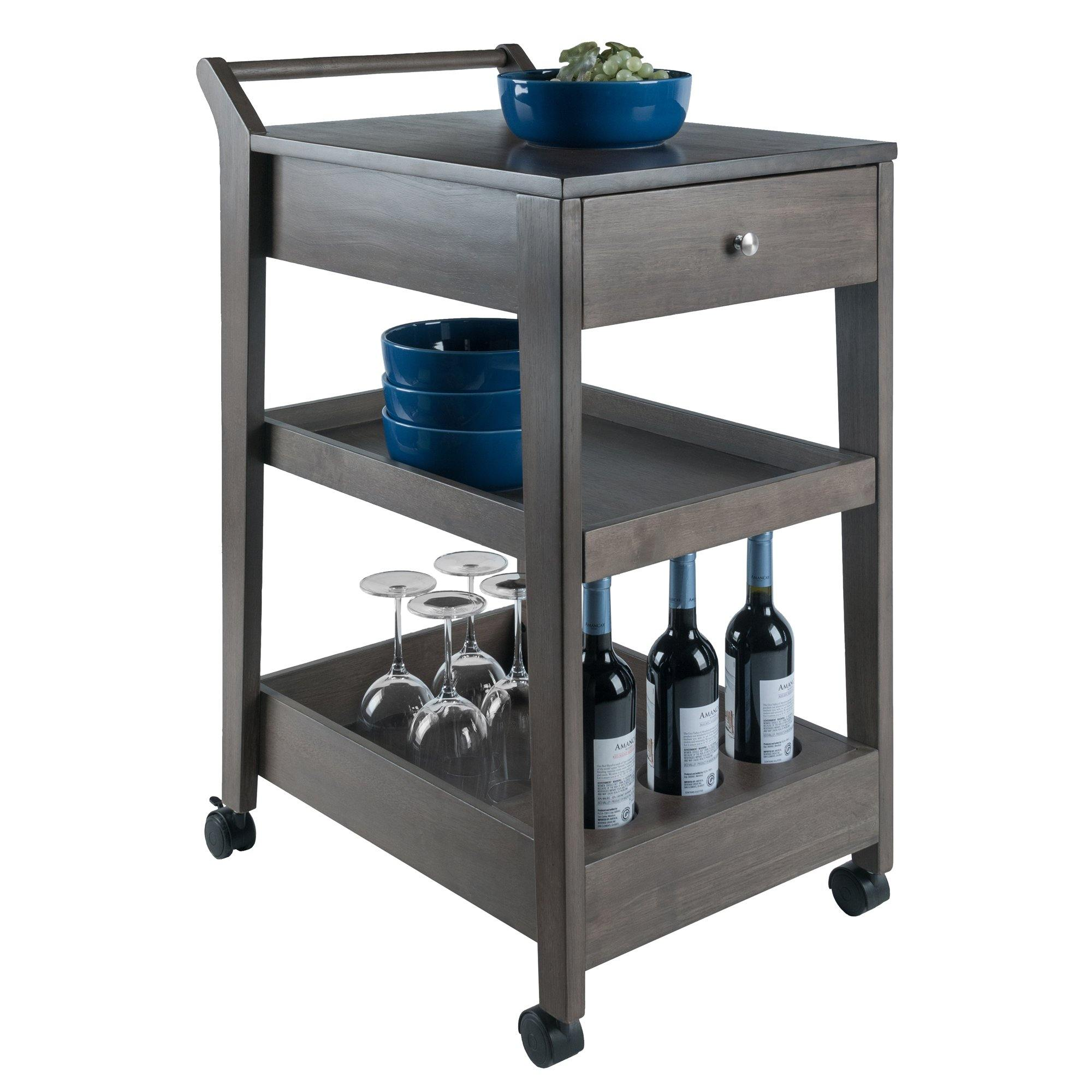 Jeston Entertainment Cart, Oyster Gray - My USA Furniture