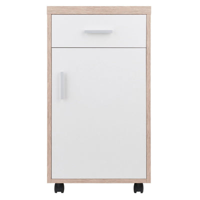 Kenner 1-Drawer Storage Mobile Cabinet, Two-Tone