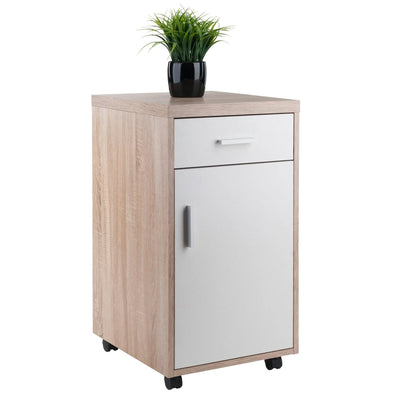 Kenner 1-Drawer Storage Mobile Cabinet, Two-Tone - My USA Furniture