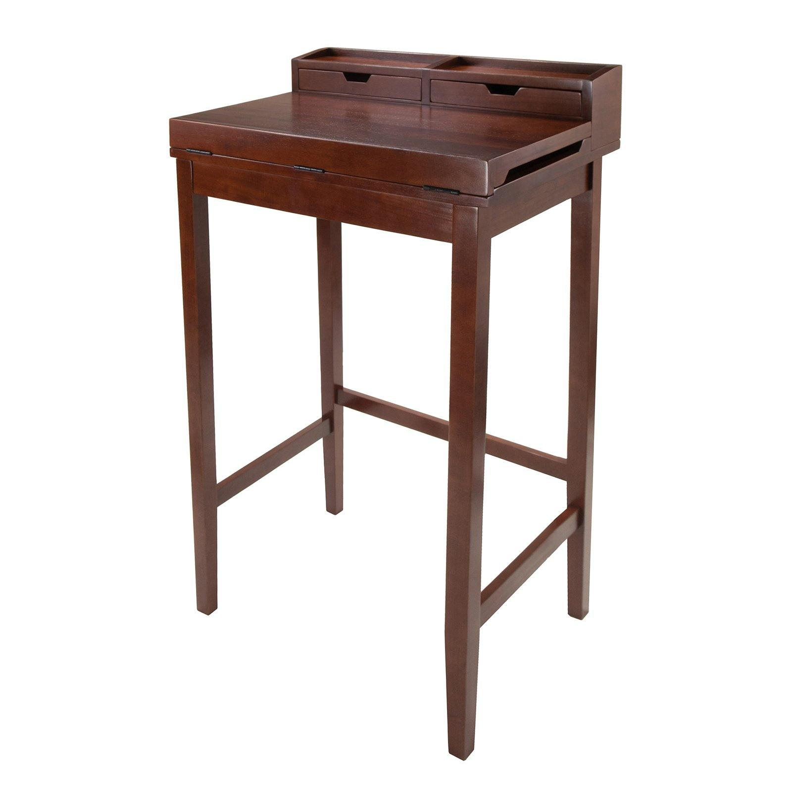 Brighton High Desk with 2 Drawers - My USA Furniture