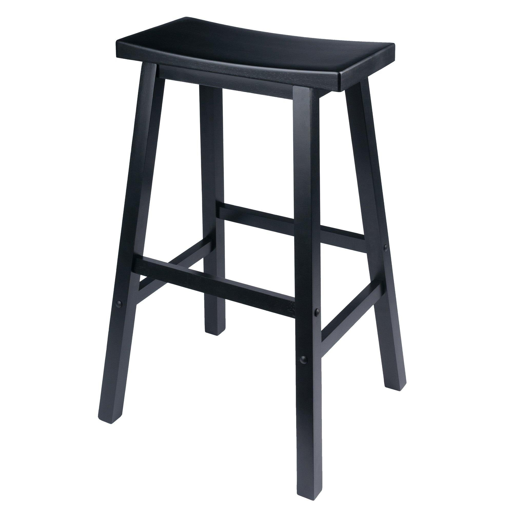 Satori Saddle Seat Bar Stool, Black - My USA Furniture