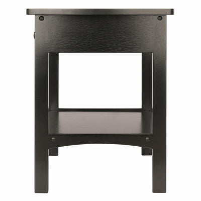 Claire Curved Accent Table, Nightstand, Black