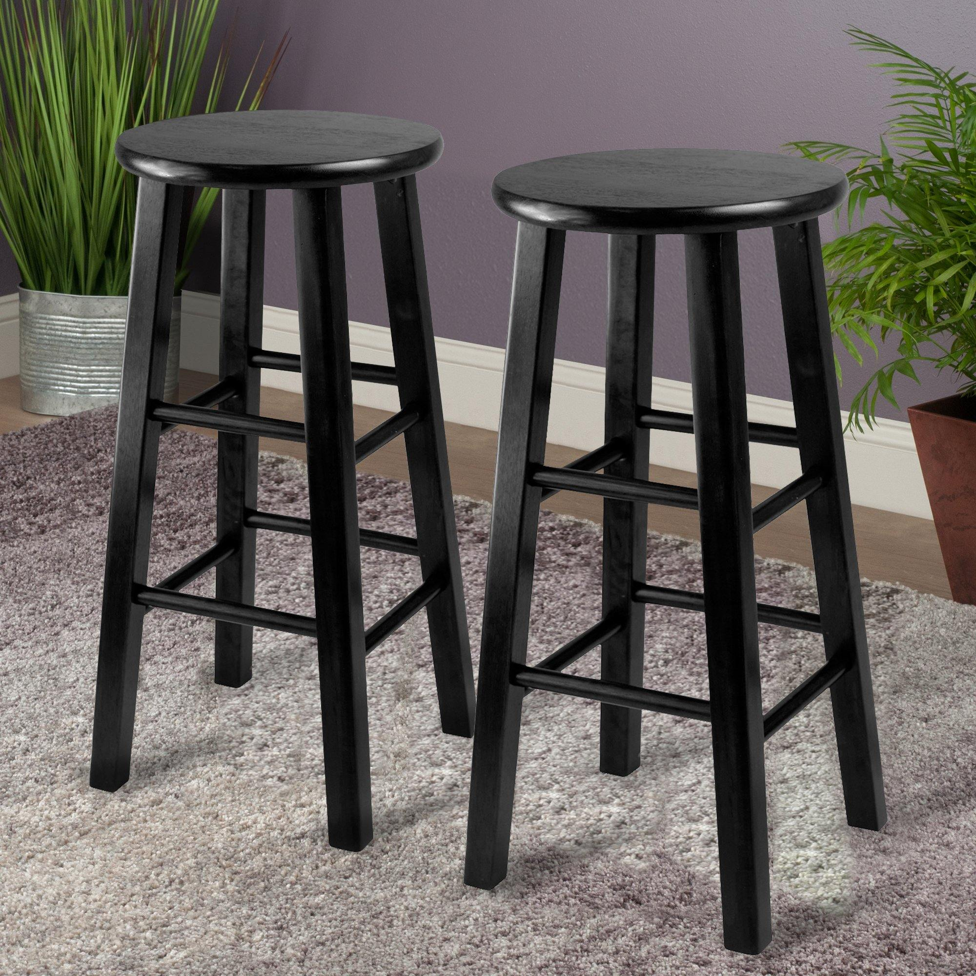 Pacey Counter Stools, 2-Pc Set, Black - My USA Furniture