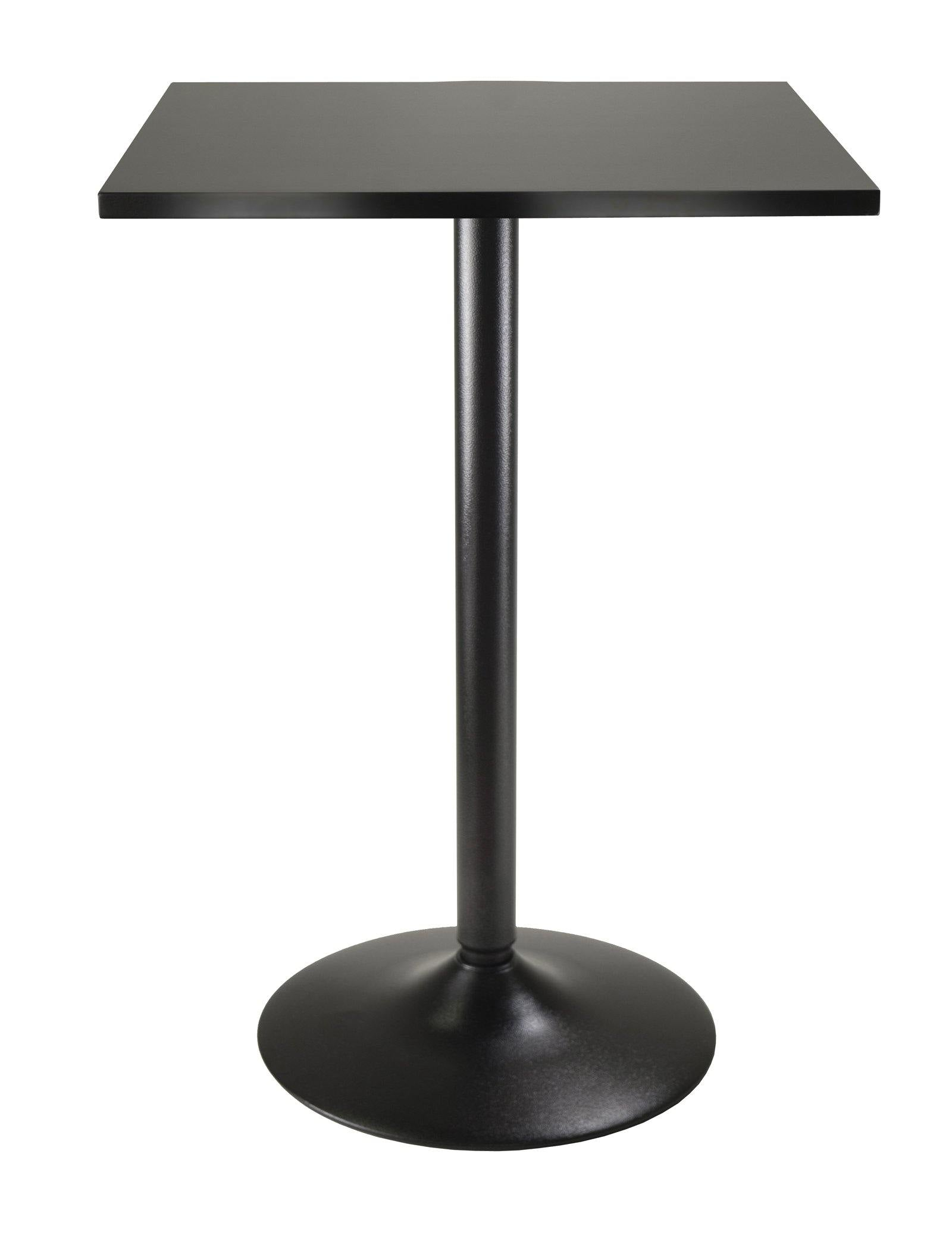 Obsidian Square Dining Table, Black - My USA Furniture