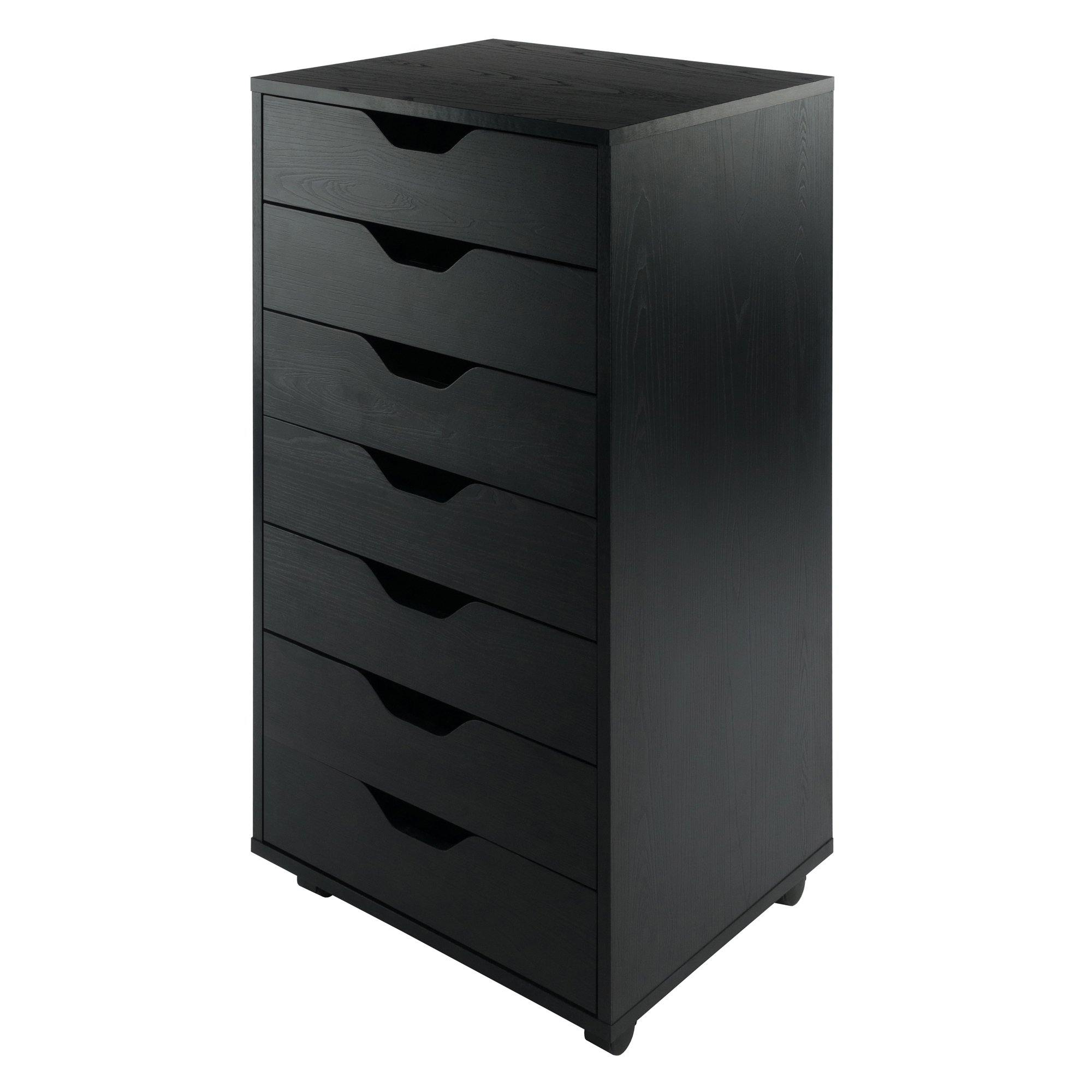 Halifax 7-Drawer Mobile Cabinet, Black - My USA Furniture