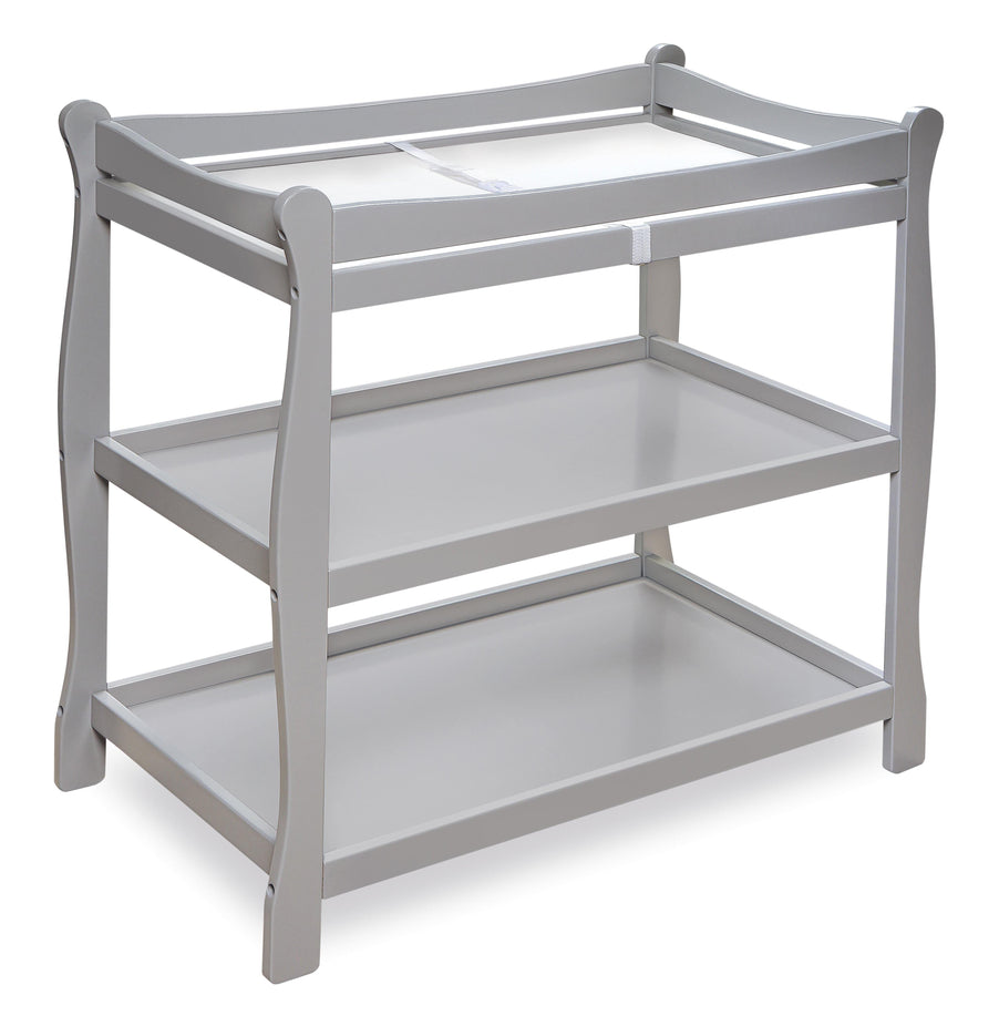 Sleigh Style Baby Changing Table - Gray - My USA Furniture