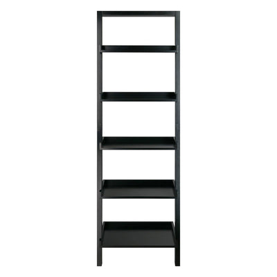 Bellamy Leaning Shelf, Black - My USA Furniture