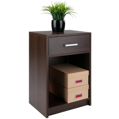 Rennick 1-Drawer Accent Table, Nightstand, Cocoa - My USA Furniture