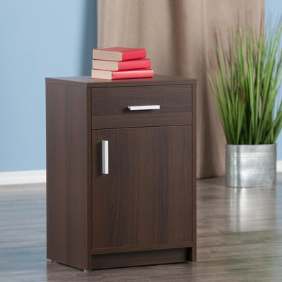 Astra Accent Table, Nightstand, Cocoa - My USA Furniture
