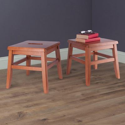 Kaya 2-Pc Conductor Stool Set, Teak - My USA Furniture