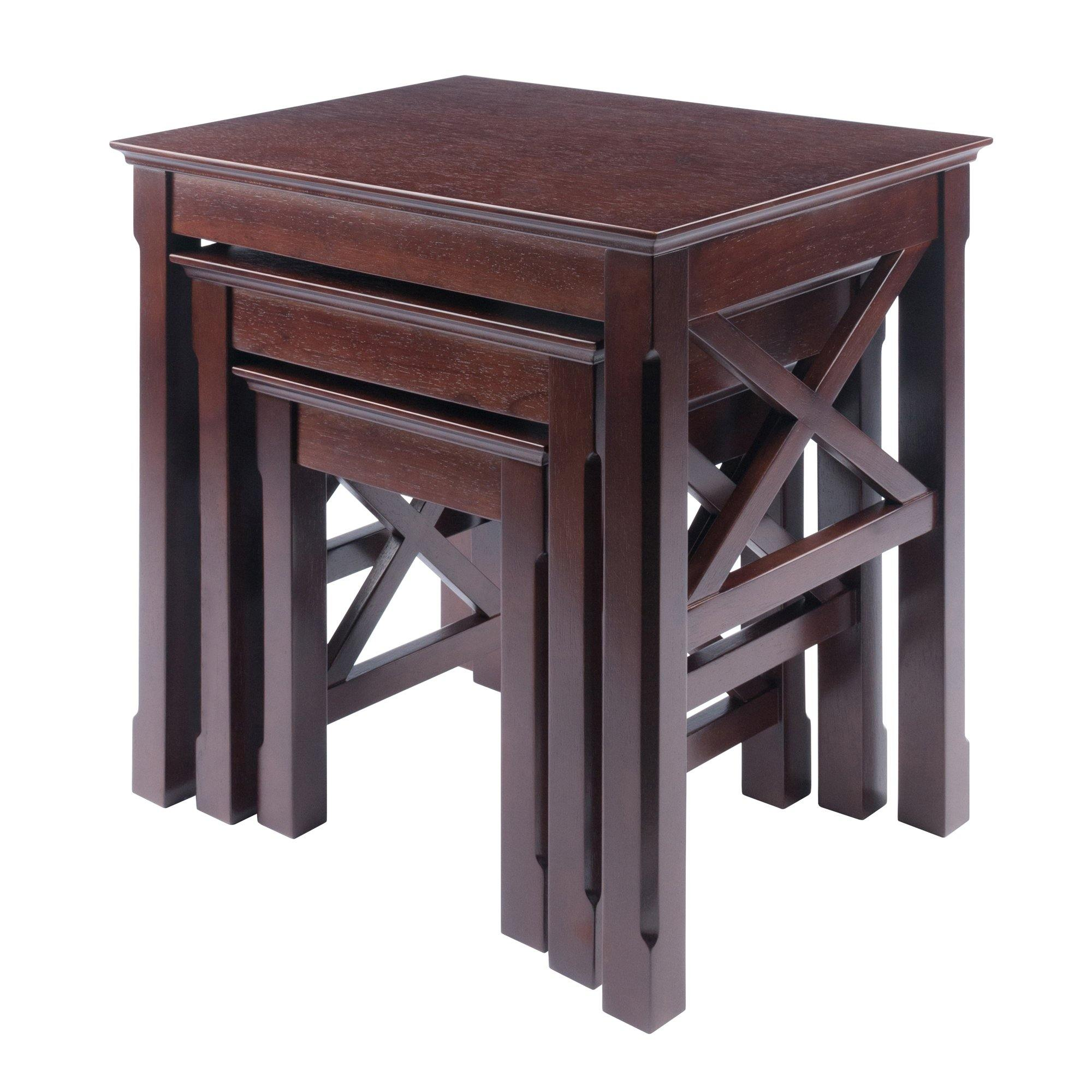 Xola X-Panel Nesting Table Set, Cappuccino - My USA Furniture