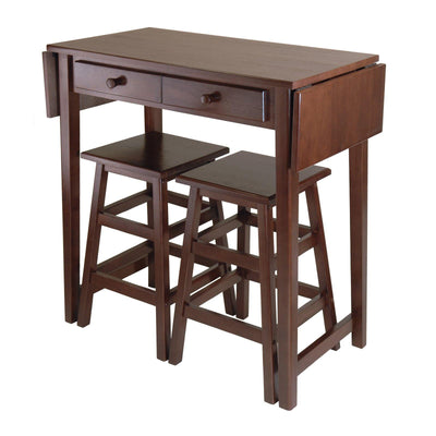 Mercer Double Drop Leaf Table with 2 Stools - My USA Furniture