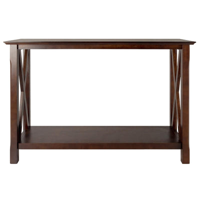 Xola X-Panel Console Hall Table, Cappuccino - My USA Furniture