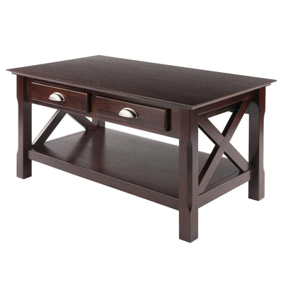 Xola X-Panel Coffee Table, Cappuccino
