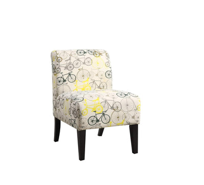 Contemporary Armless Accent Chair with Padded Back and Tapered Legs